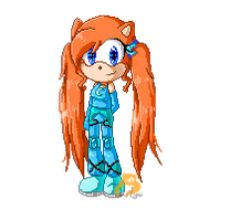 Lily the pixel hedgehog by xXLily-n-CookiesXx