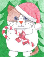 Merry Christmas from Fat Kitty by NelmaThyria