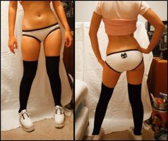 cat panties and model by buttered-panties