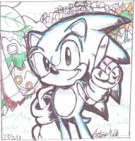 sonic the hedgehog fan comic cover 1 by HeroArt110