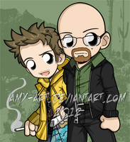 Breaking Bad - Walter and Jesse by amy-art