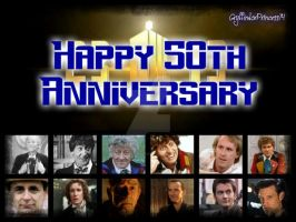 Happy 50th Anniversary, Doctor Who by GryffindorPrincess74