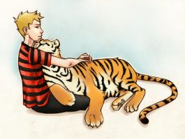 Calvin and hobbes by la-ela