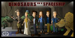 Dinosaurs on a Spaceship by CPD-91