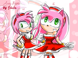 Amy Rose 12 and 16 years old by Yilulu