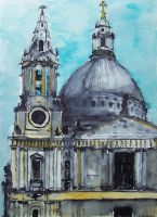 St Paul's Cathedral in London by Ayashi-saama