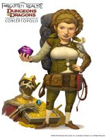 Lightfoot Halfling (female) by Conceptopolis