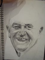 Grandad Albie in progress by artbydavidc