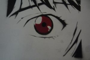Rei Ayanami Eye stencil by CloudNeinStudio-Art