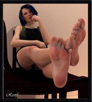 Jena Foot Posing by restif