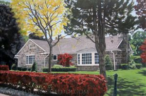 House portrait in acrylic by shmeeden