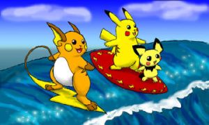 Surfing 'Chus by Mewtwofan