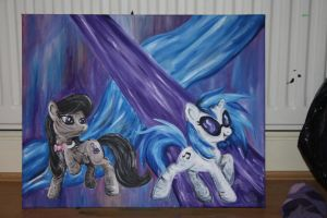 Vinyl Scratch And Octavia by pinkiepanda06