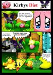 Kirbys weird adventure Pt.1 -Kirbys Diet by Darklinknrone