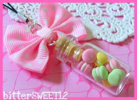 Baby Macaroons Cell Strap by bitterSWEETones