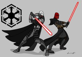 Darth Malgus and Vindican by PrometheanPaintbrush