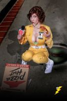 April O'Neil Pizza 2 by megmurrderher