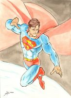 Superman Watercolors by jamesq
