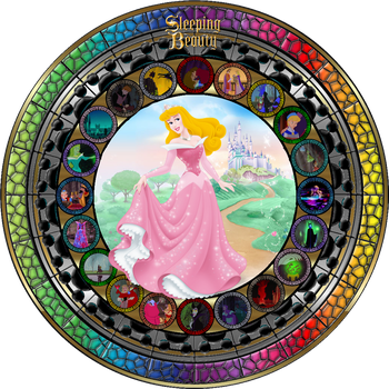 Masterpiece Sleeping Beauty Stained Glass by Maleficent84