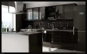 kitchen by Skiki3d