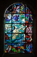 Stained Glass in Mljet Monastery by wildplaces