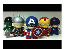Avengers Munny by spilledpaint88