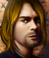Kurt Cobain by reapier