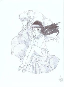 Inuyasha and kagome by jessica123456789