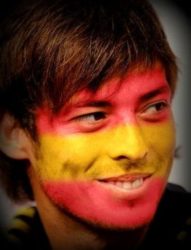 Face-Painted David Silva by lightazland77