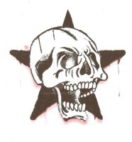 skull in star by BMXNINJA