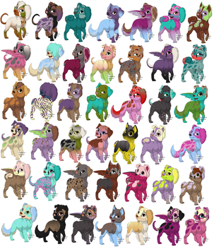 Free Pup Adopts [2/42 Open] by Twerkzone