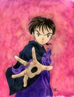 Miroku and the Ugly Background by TalisX