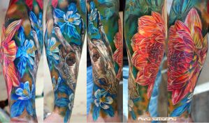 flowers tattoo by NikaSamarina