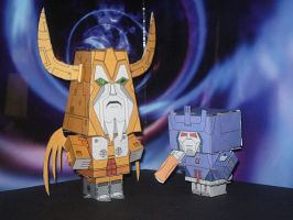 Cubees Unicron and Galvatron by CyberDrone