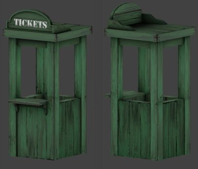ticket booth by benster58