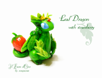 Leaf Dragon with strawberry by rosepeonie