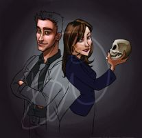 Booth and Bones - in progress by Lusc-Fire