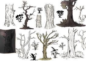 Tree Sketches by Superior-Silverfox