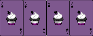 Ace Deck 70: Cupcake+Violet+Black by Galadnilien