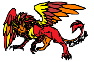Fire Gryphon Adopt by strawberrysky1185