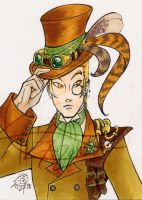 Steampunk ACEO 02 by zirio