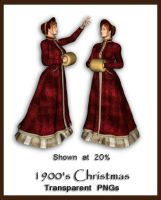 1900's Christmas Figures by shd-stock