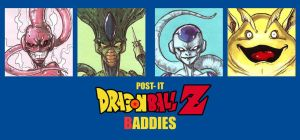 POST IT DRAGON BALL Z BADDIES by QuinteroART