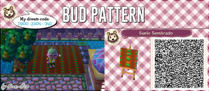 QR ACNL: Bud Pattern by One-Eco