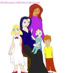 Starfire And Raven's New Family Colored by ShadowMan-DDT