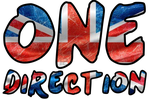 Texto PNG One Direction (Bordes Negros) by Textos-Png-By-Paau