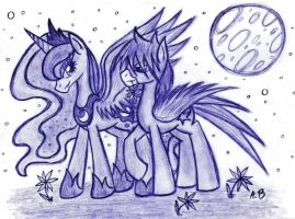 39# Request - Princess Luna and Star Swift by Anzu18