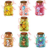 Bottle Charms! by MissKittens