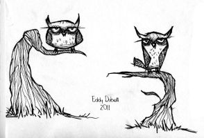 Owl Sketches by SpawnoftheED