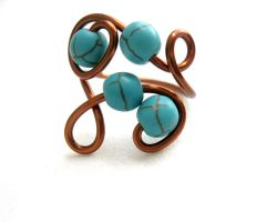 adjustable turquoise ring by faranway